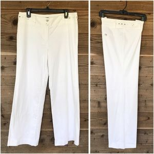 WHBM White Legacy Wide Leg Fully Lined Pants Sz 10